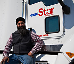 Roadstar Trucking truck and driver